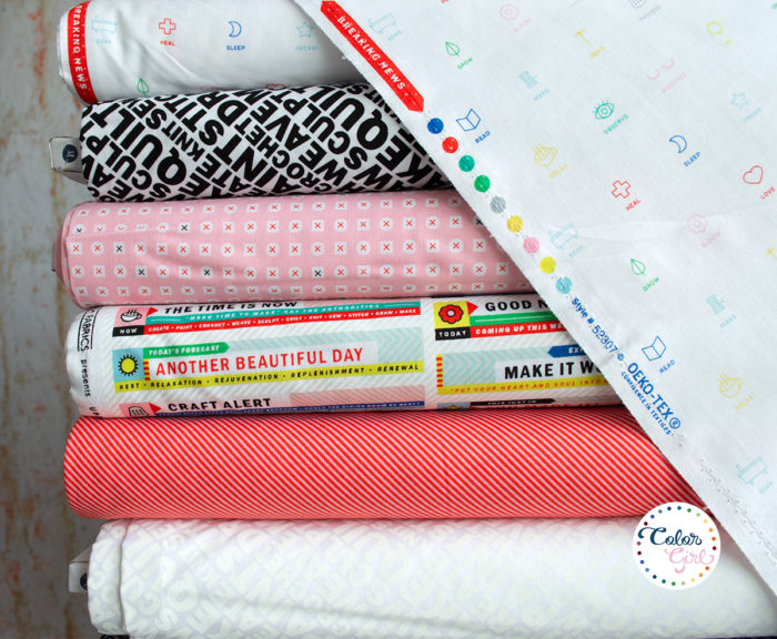 Breaking News fabric by Uppercase sold by Color Girl Quilts