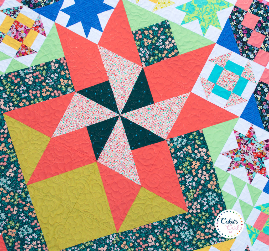 Rise above quilt along with color girl quilts
