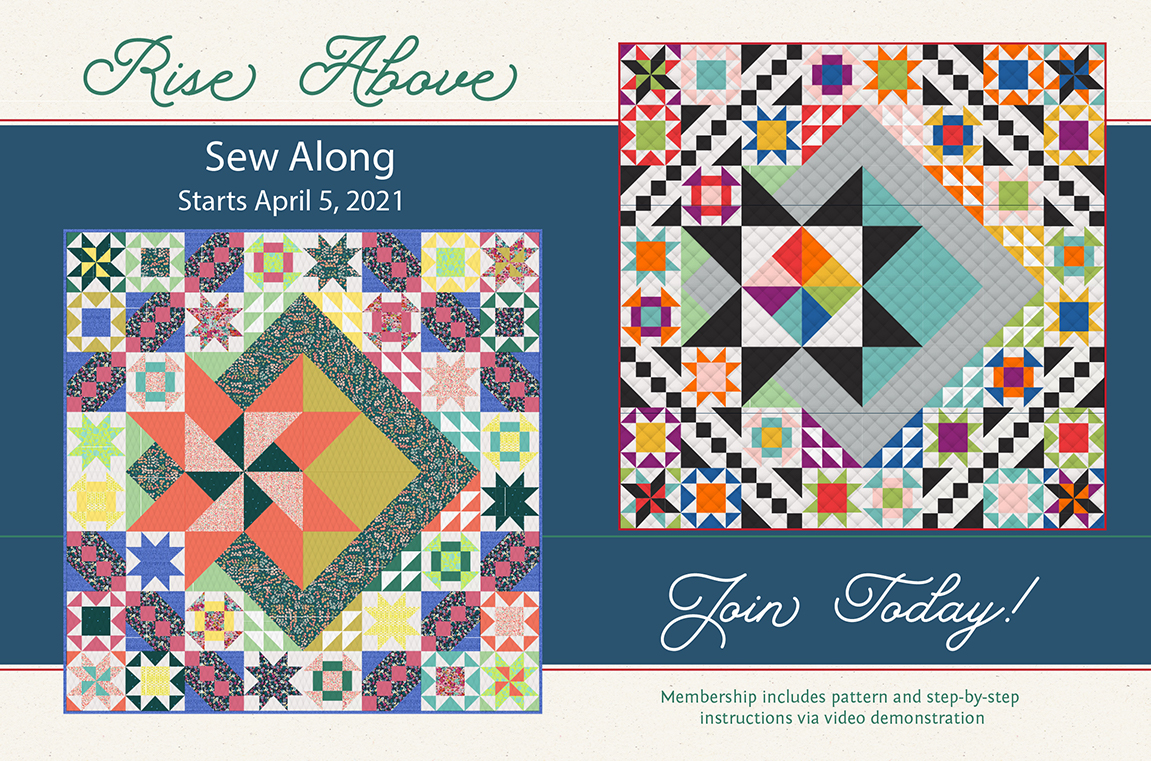Rise Above Quilt pattern sew along with color girl quilts