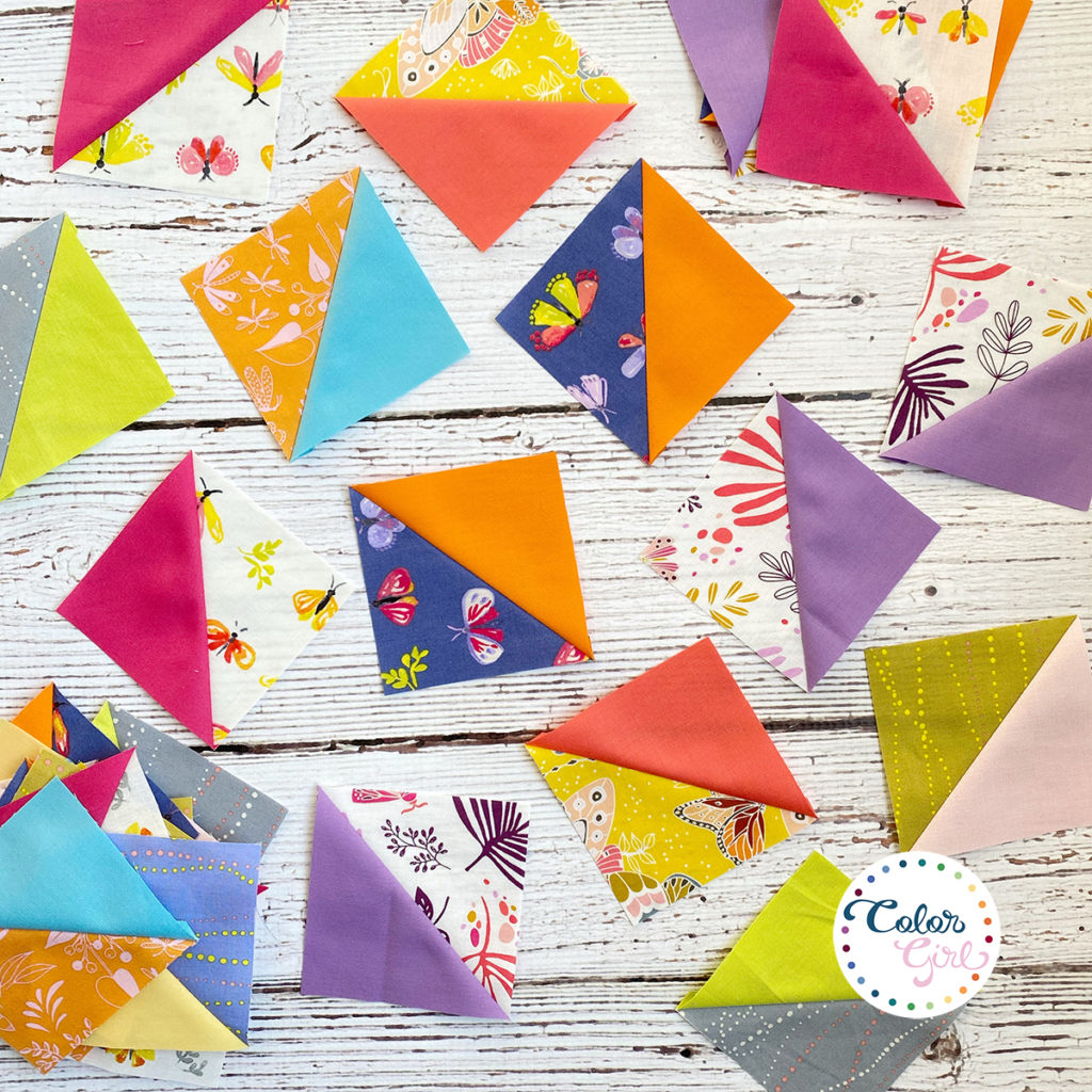 how to sew half square triangles for quilting video tutorial