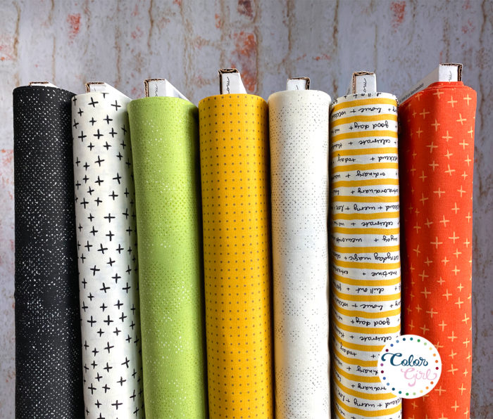 Quotation fabrics by Zen Chic for Moda Fabrics, sold by color girl quilts