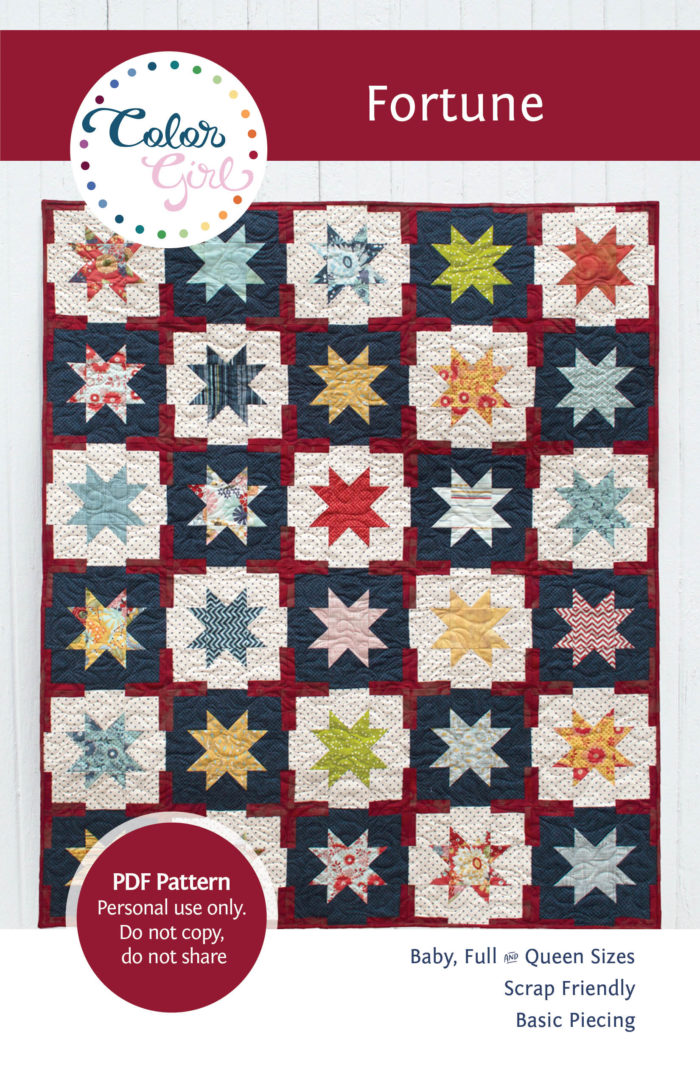 Fortune star quilt pattern by Color girl Quilts