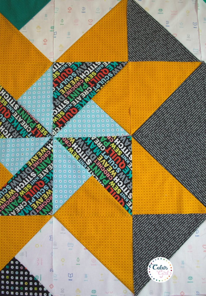Rise above quilt center star by Color Girl Quilts