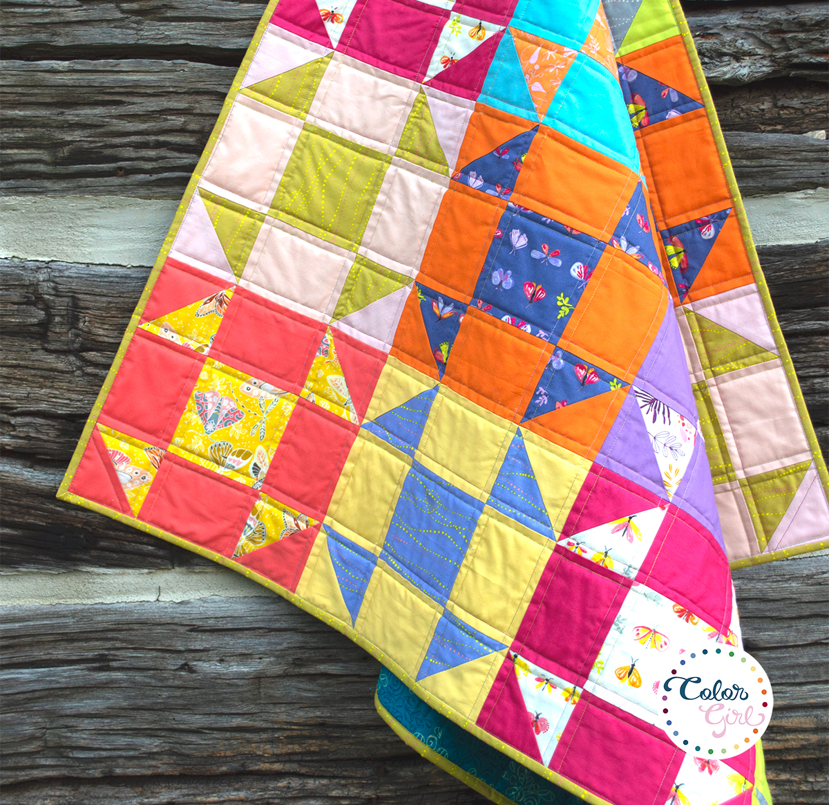 easy baby quilt video tutorial by Color Girl Quilts
