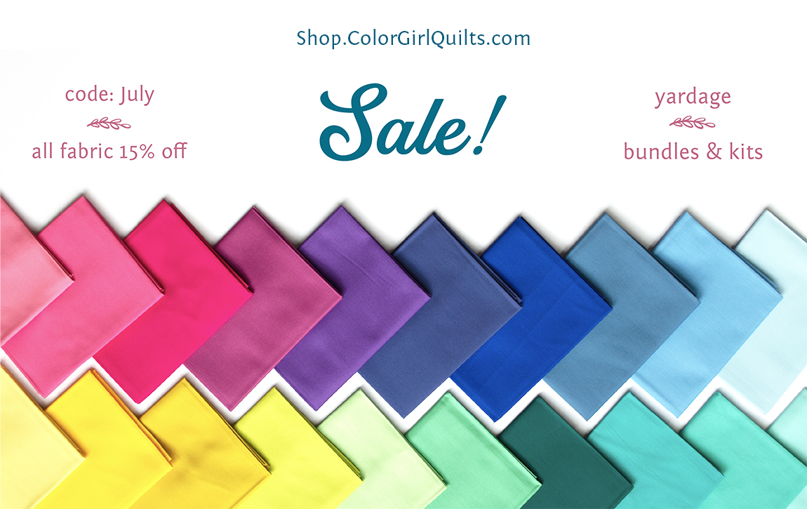 quilting fabric sale at colorgirlquilts.com