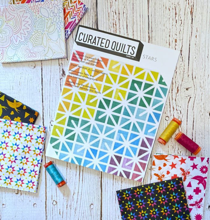 Curated quilts magazine star issue giveaway by Color Girl Quilts