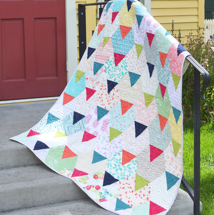 Festival quilt pattern by Color Girl quilts Sharon McConnell